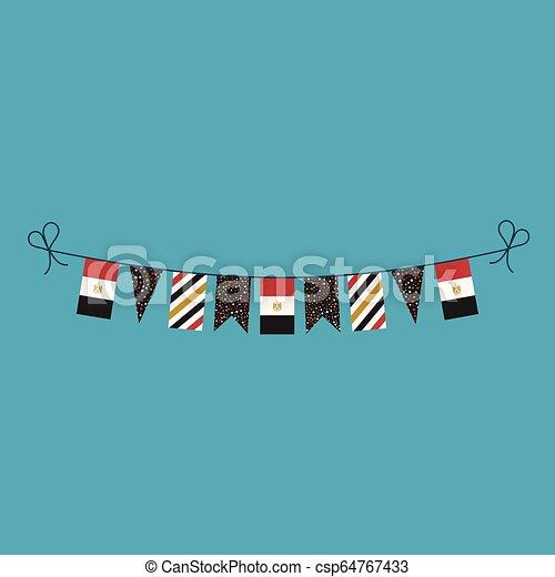 旗布, 平ら, エジプト, 国民, 旗, 装飾, デザイン, 休日, 日 - csp64767433