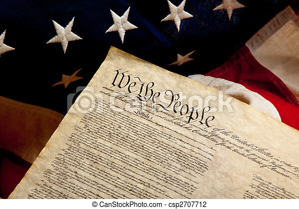 旗, アメリカ人, 独立, 宣言 - csp2707712