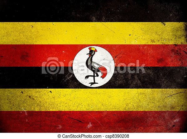 旗, グランジ, ウガンダ - csp8390208