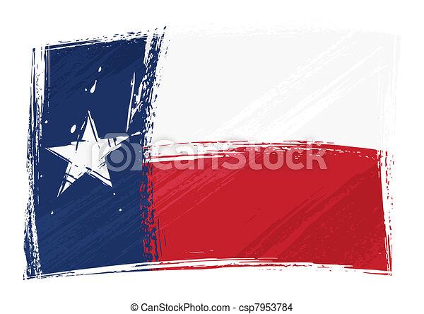 旗, グランジ, テキサス - csp7953784