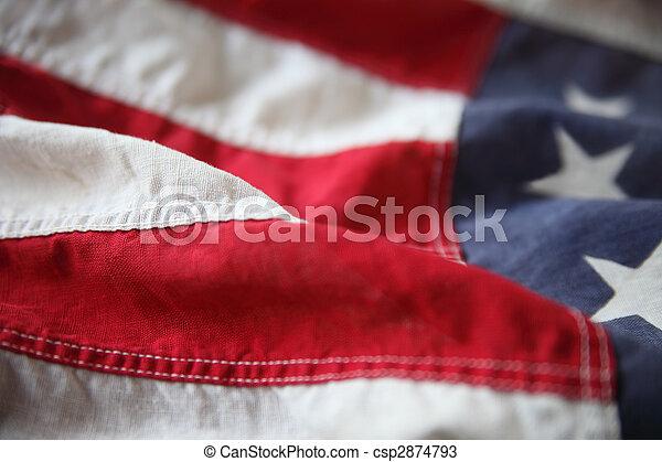 旗, ストライプ, アメリカ - csp2874793