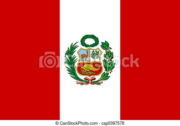 旗, ペルー - csp0397578