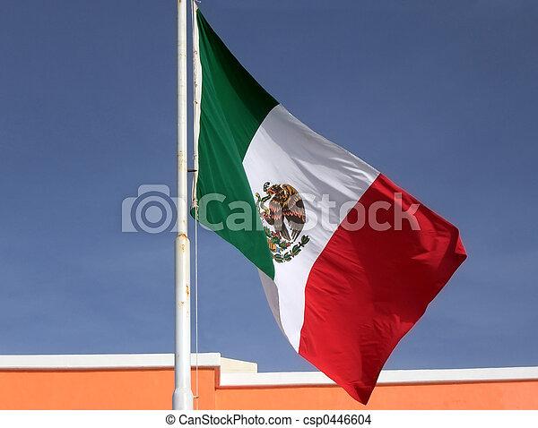 旗, 墨西哥人 - csp0446604