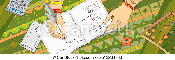 旗, 手, numerology, arithmancy - csp13264786