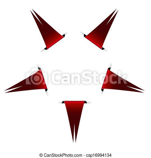 旗, 星, 構成 - csp16994134