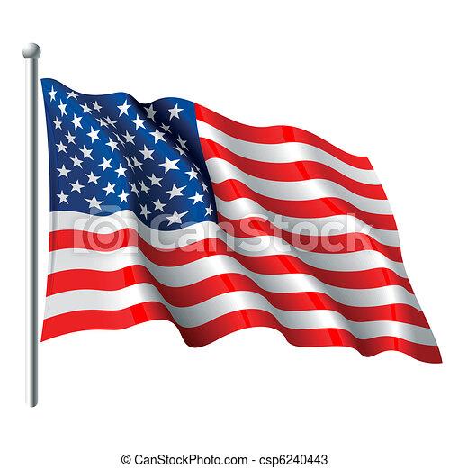 旗, 美國 - csp6240443