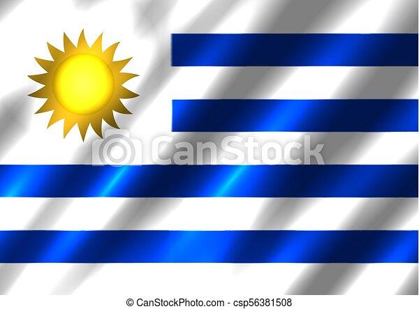 旗, 背景, ウルグアイ - csp56381508