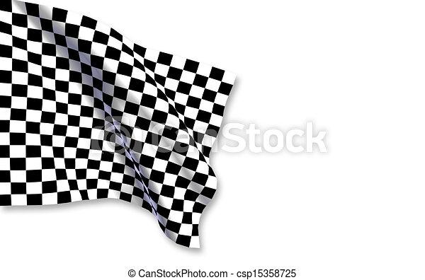 旗, checkered - csp15358725