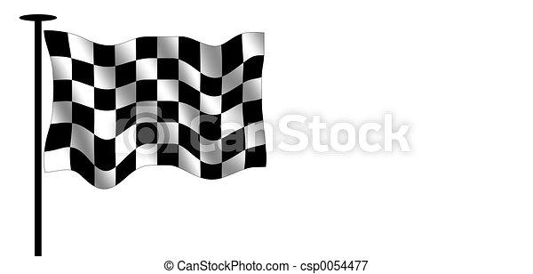 旗, checkered - csp0054477