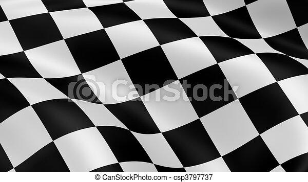 旗, checkered - csp3797737