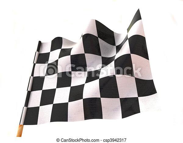 旗, checkered - csp3942317
