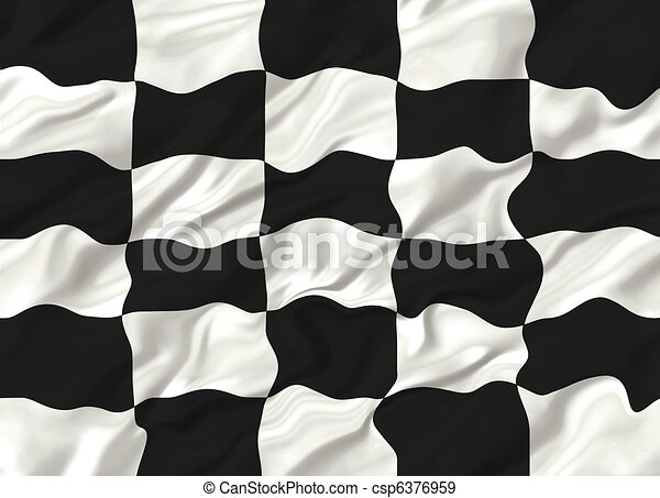 旗, checkered - csp6376959