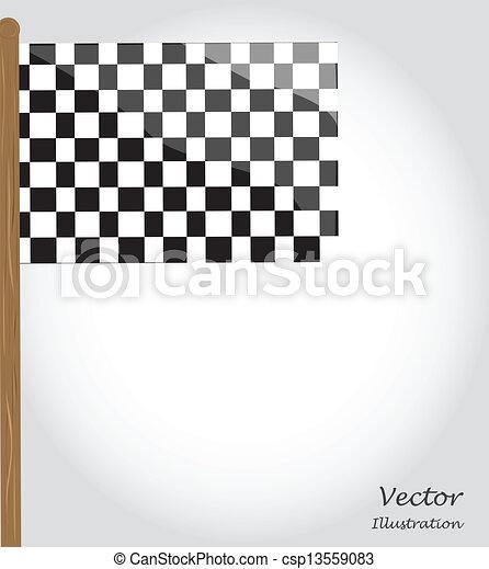 旗, checkered - csp13559083