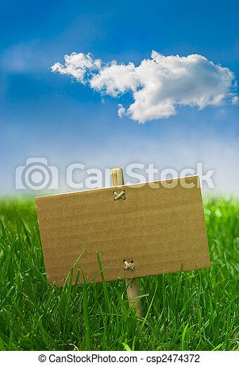 旗, intro, 緑, 自然 - csp2474372