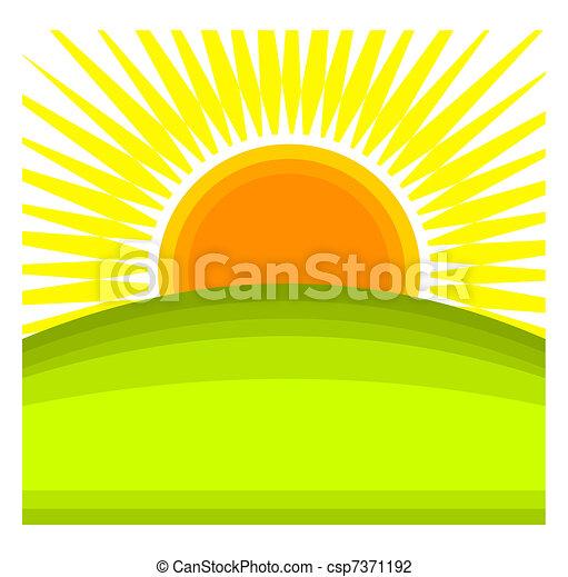 日の出 - csp7371192