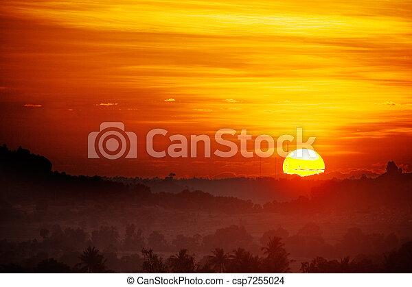 日の出 - csp7255024
