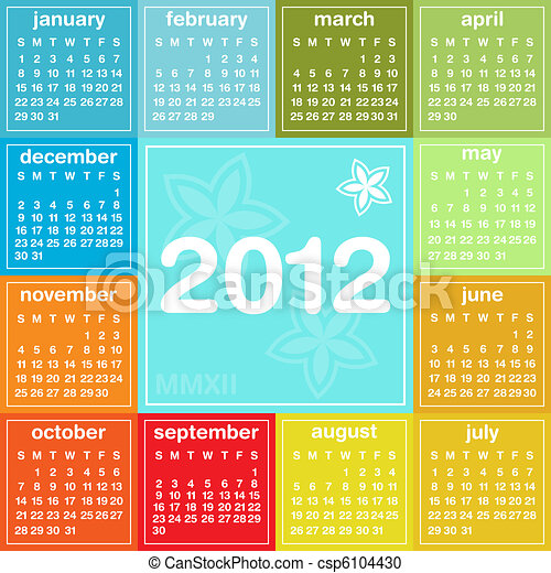 日曆, 2012 - csp6104430