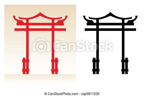 日本, 門 - csp5811035