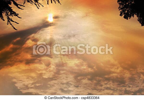 日没, 交差点 - csp4833364