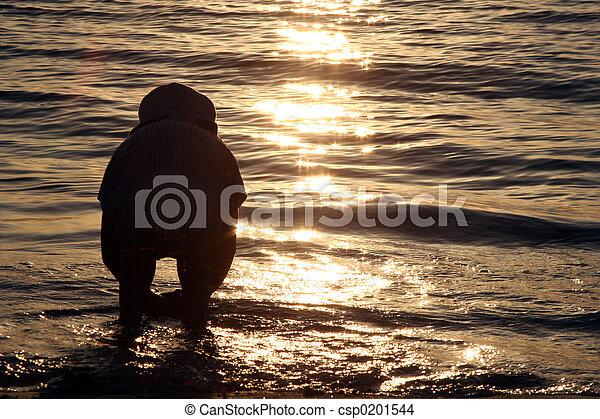 日没, 子供 - csp0201544