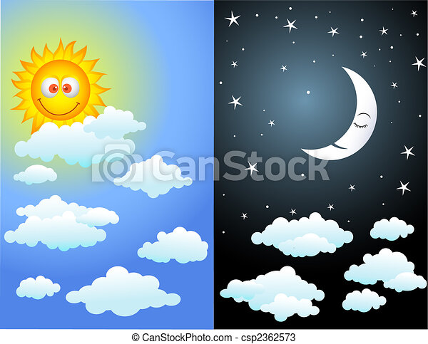 日, 夜 - csp2362573