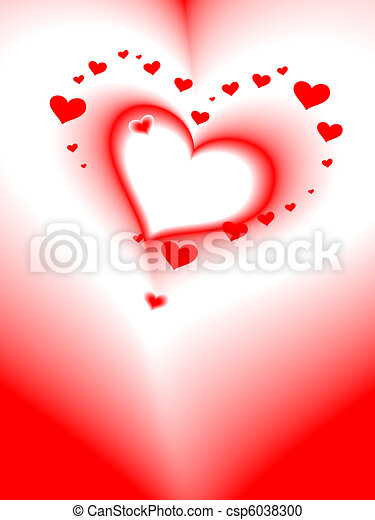 日, 心, カード, ロマンチック, バレンタイン, ベクトル - csp6038300