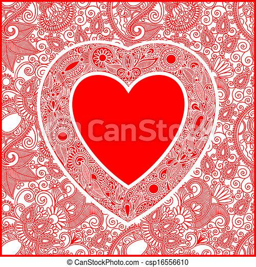 日, 心, カード, valentin - csp16556610