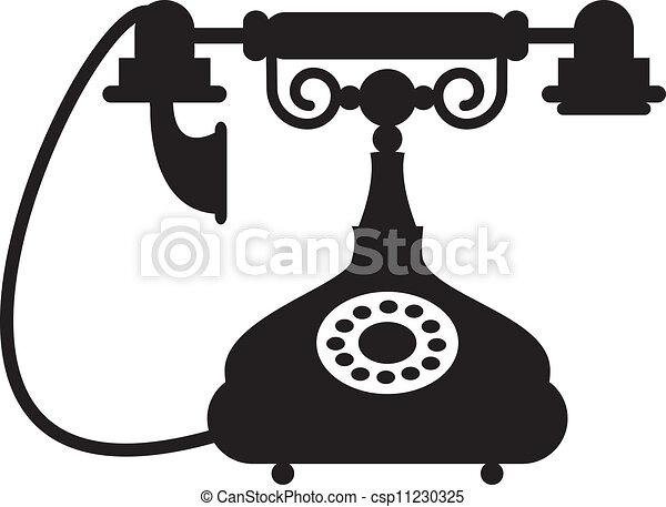 旧式な電話 - csp11230325