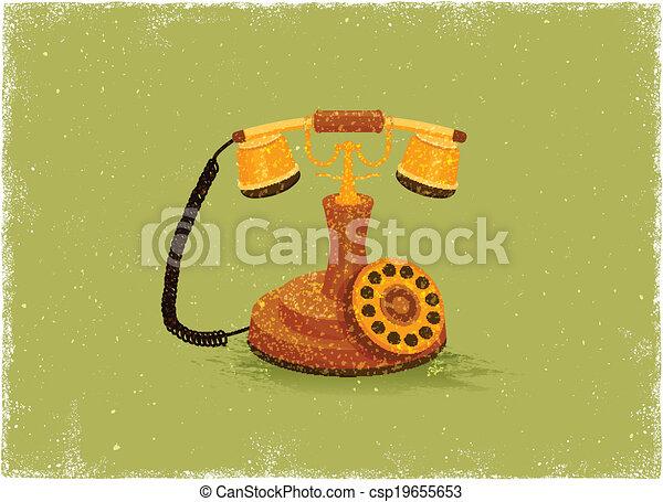 旧式な電話 - csp19655653