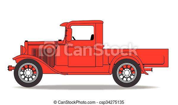 早く, ピックアップ トラック - csp34275135