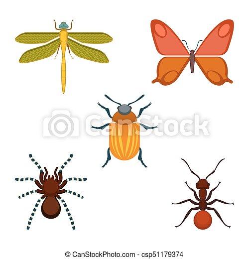 昆虫 イラスト ベクトル 虫 コレクション トンボ アイコン 隔離