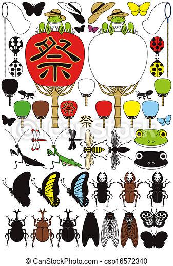 昆虫, カエル - csp16572340