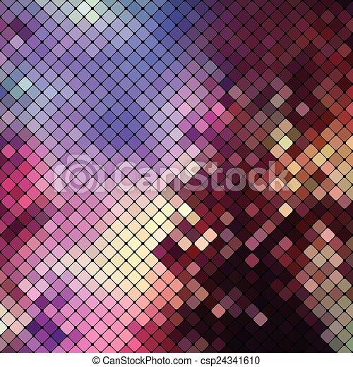 明るい, カラフルである, モザイク, 背景 - csp24341610
