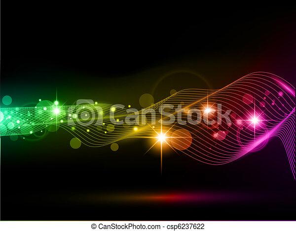 明亮, 背景, 多种顏色, 光, 星 - csp6237622