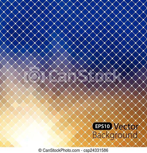 明亮, 鮮艷, 馬賽克, 背景 - csp24331586