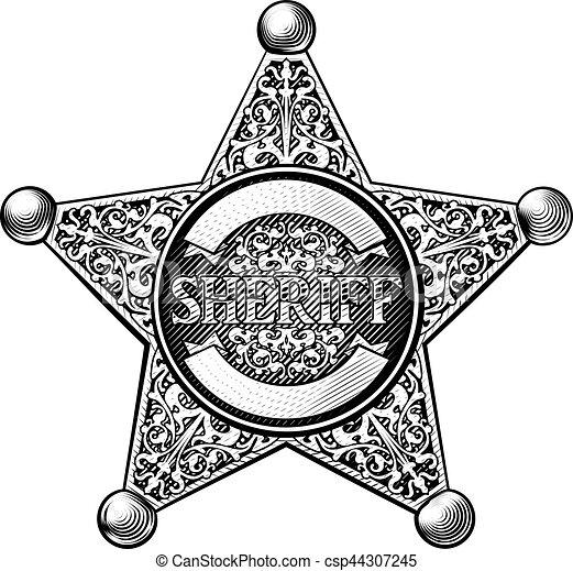 星のバッジ, 保安官 - csp44307245