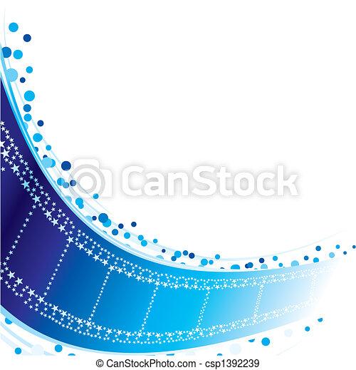 星, フィルムの ストリップ - csp1392239