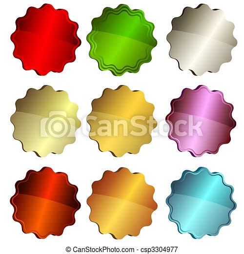 星, 標籤, 集合, 鮮艷 - csp3304977