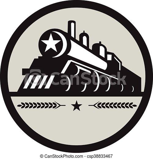 星, 機関車, 列車, レトロ, 円, 蒸気 - csp38833467