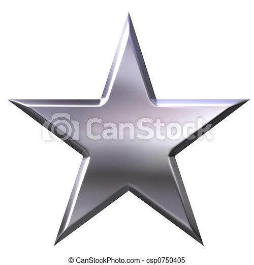 星, 銀 - csp0750405