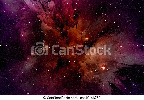 星, 領域, 發光, 星云, purple-red - csp40146769
