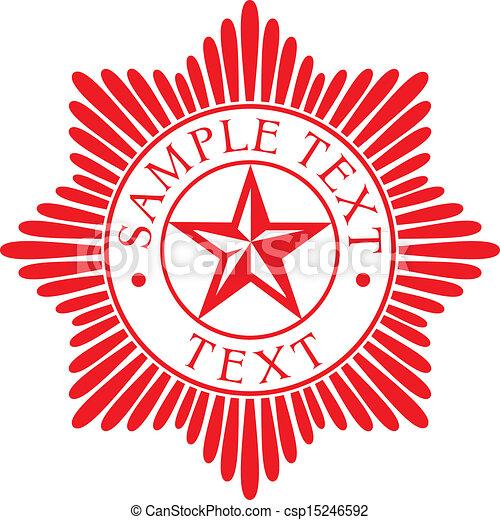 星, badge), 順序, (police - csp15246592