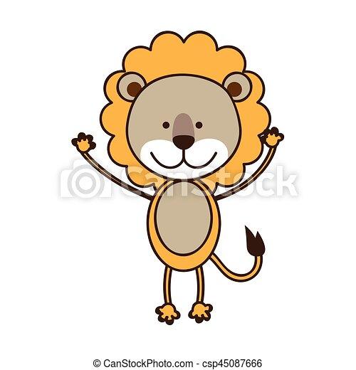 映像 ライオン カラフルである 動物 かわいい 映像 カラフルである