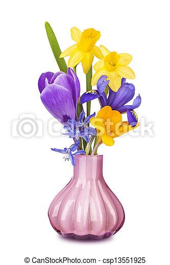 春の花, カラフルである, つぼ - csp13551925