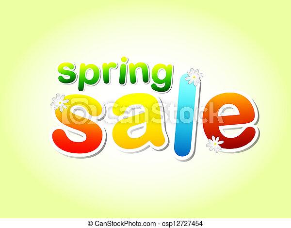 春の花, セール, テキスト - csp12727454