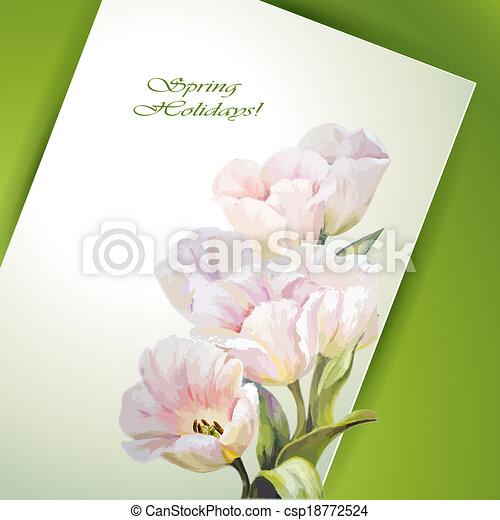 春の花, テンプレート, 招待 - csp18772524