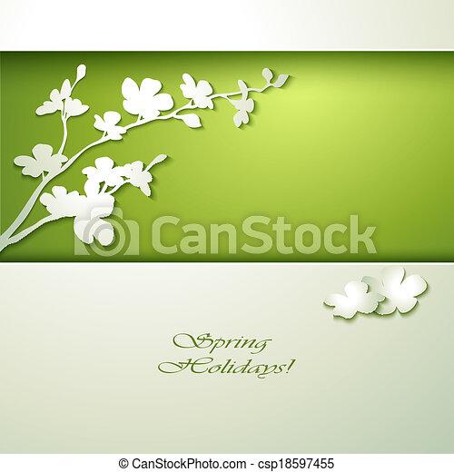 春の花, テンプレート, 招待 - csp18597455