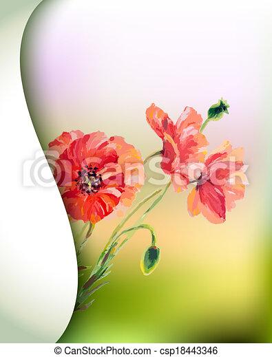 春の花, テンプレート, 招待 - csp18443346