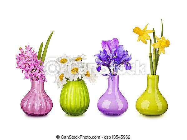 春の花, 花びん - csp13545962