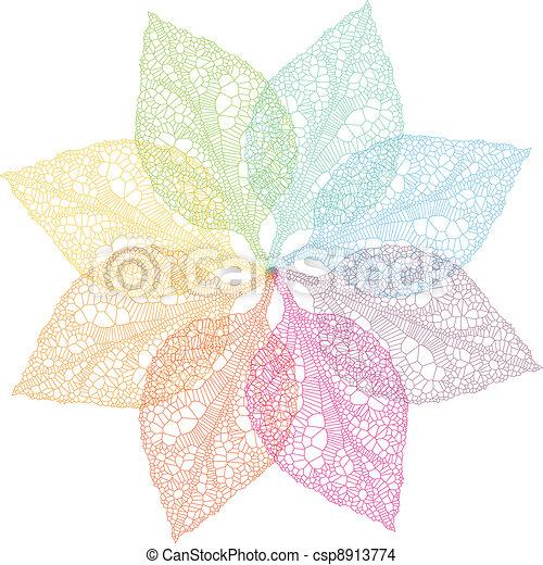 春天, 矢量, 色彩丰富, 离开 - csp8913774